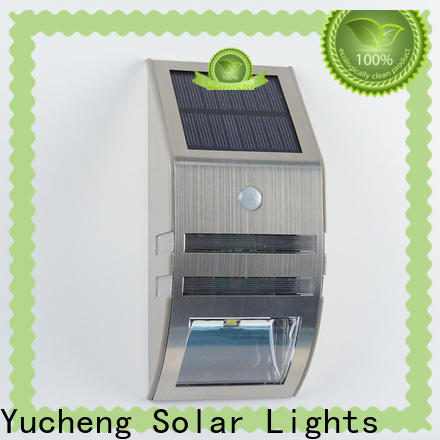 Yucheng high-quality outdoor solar wall lights series for stair