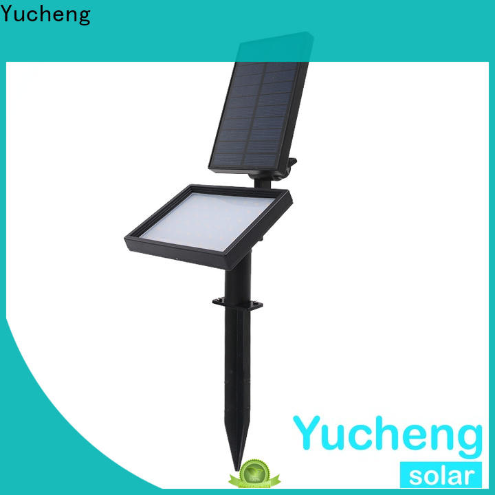 Yucheng top solar spotlights outdoor bright directly sale for garden