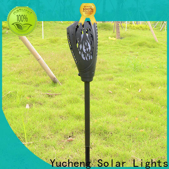 Yucheng latest solar flame torch directly sale for park