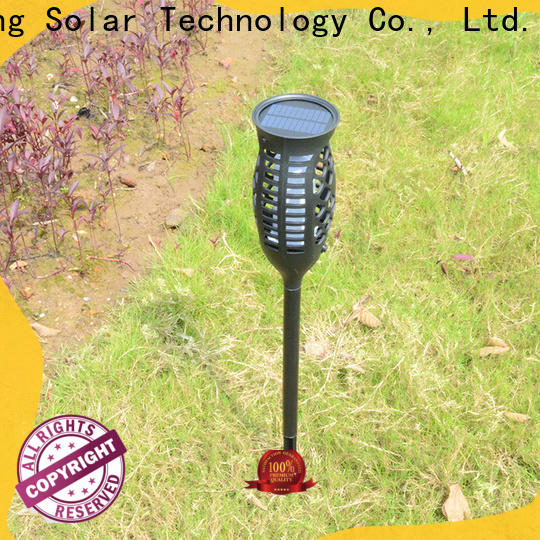 Yucheng high-quality solar flame light supplier for park