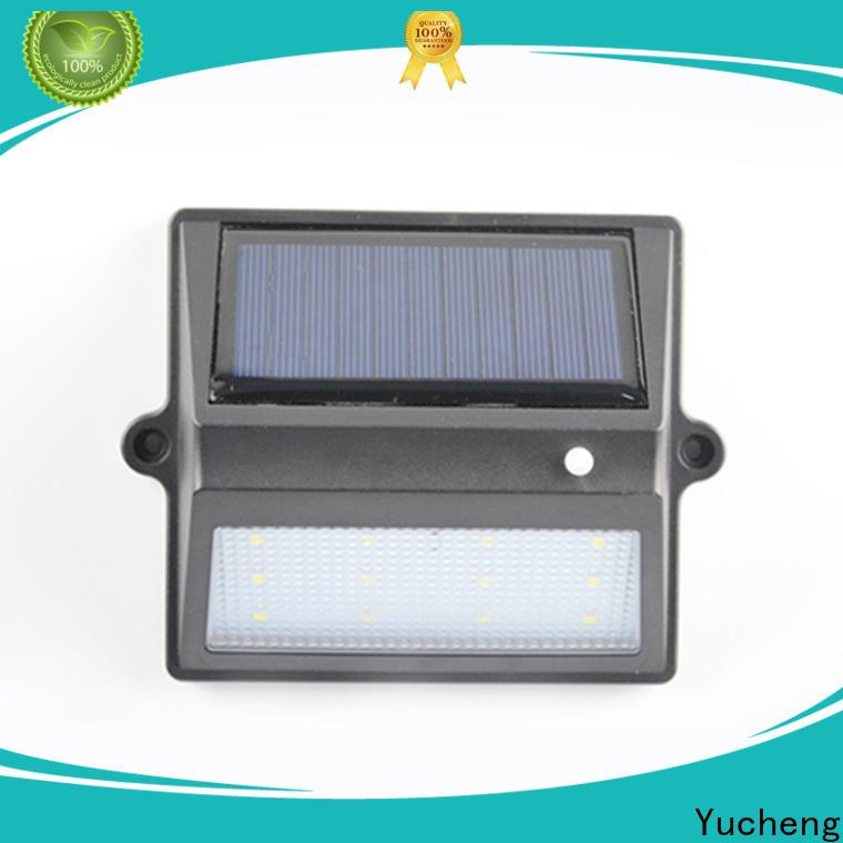 Yucheng best solar garden fence lights manufacturer for home