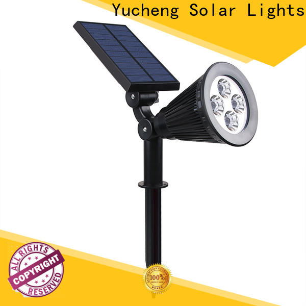 Yucheng latest solar spotlights outdoor bright directly sale for home