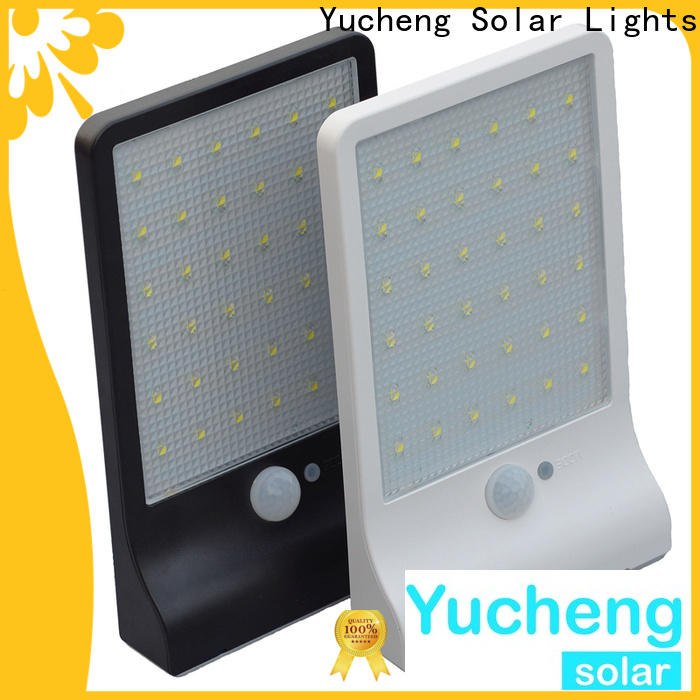 Yucheng solar outside wall lights with good price for pathway