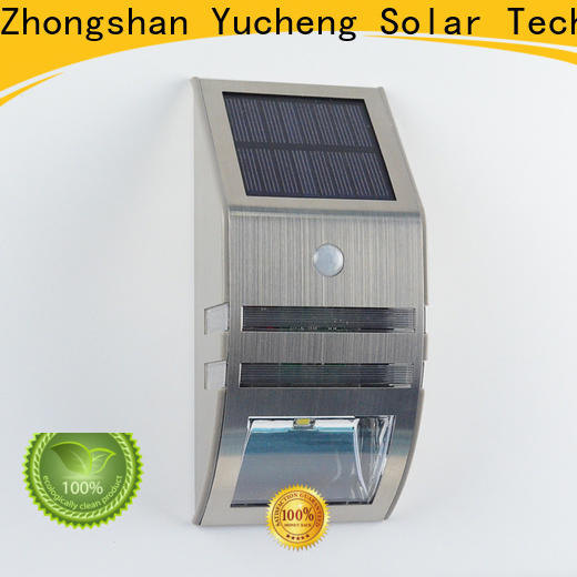 Yucheng solar garage lights customized for stair