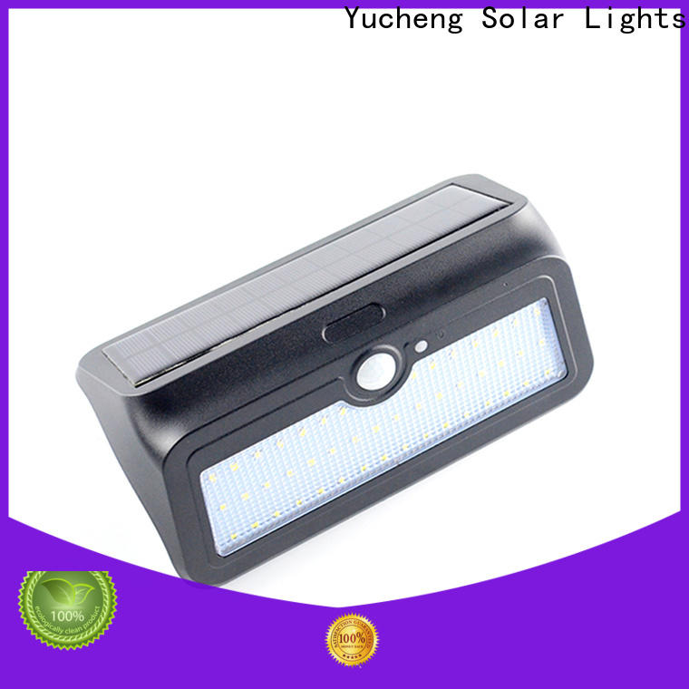 Yucheng latest solar wall sconce factory direct supply for docks