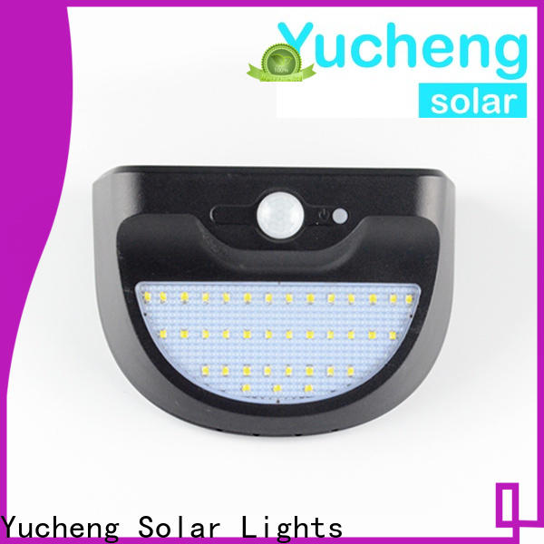 Yucheng wholesale solar wall sconce manufacturer for garden