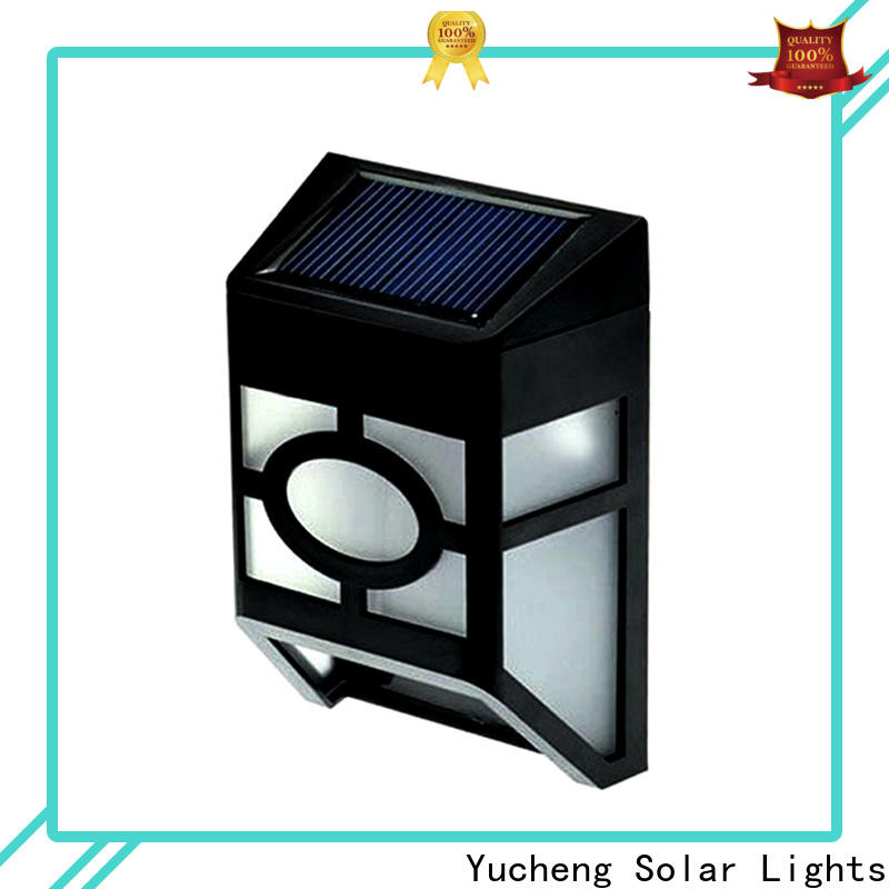 Yucheng solar garden fence lights supplier for park