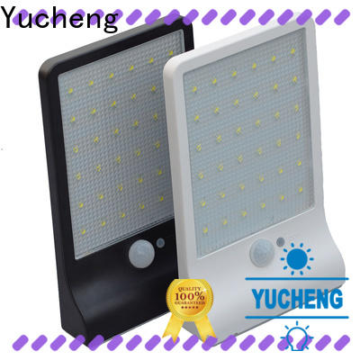 Yucheng solar outside wall lights series for garden