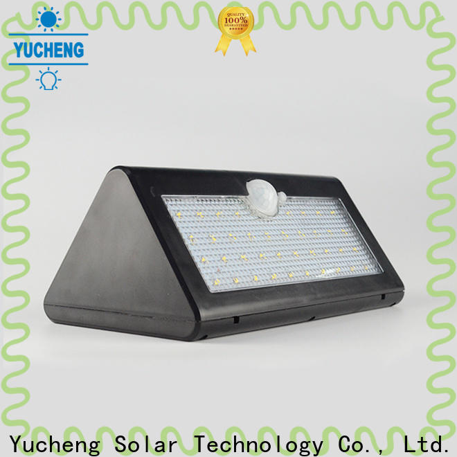 Yucheng solar outdoor wall lights factory direct supply for stair