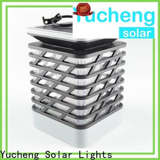 Yucheng solar flame light series for courtyards