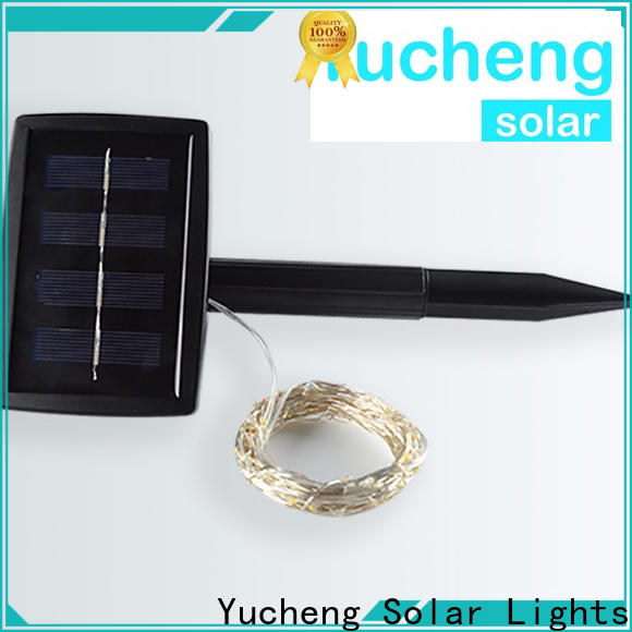 Yucheng top solar powered string lights series for courtyards