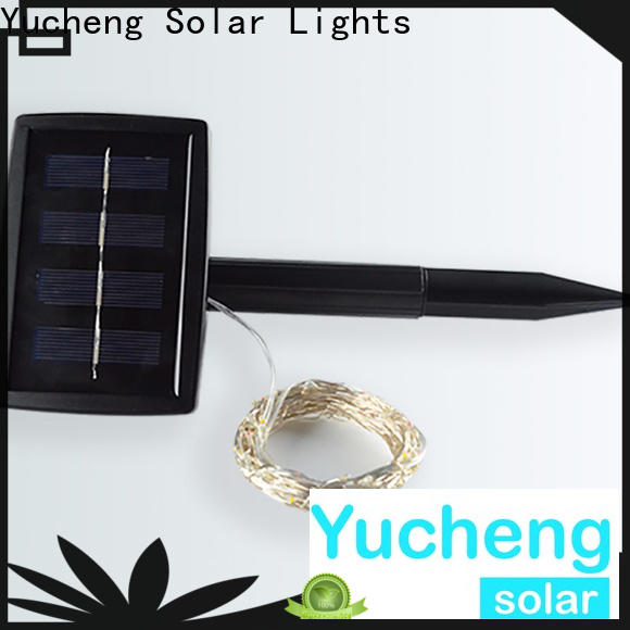 Yucheng best solar powered christmas lights supplier for courtyards