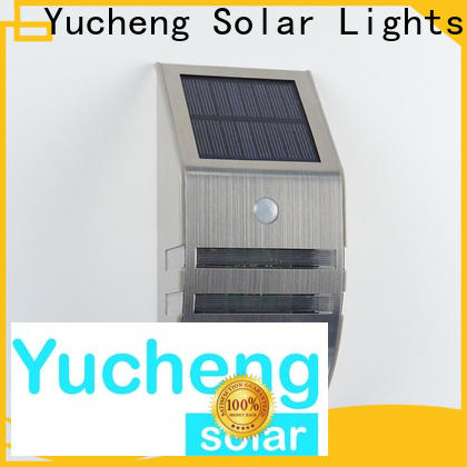 Yucheng solar outside wall lights supplier for stair