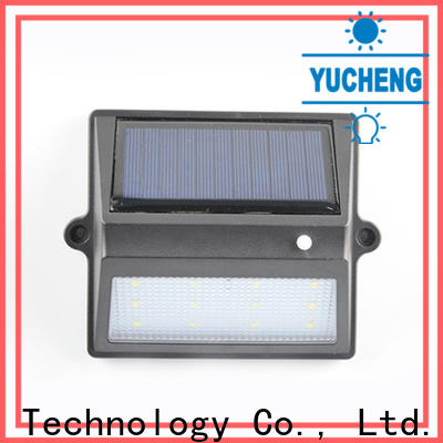 Yucheng solar garden fence lights factory price for garden