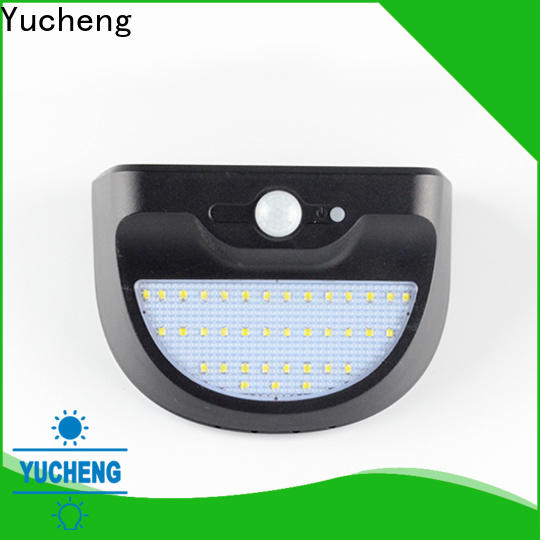 Yucheng outdoor solar wall lights factory direct supply for pathway