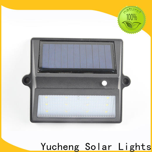 Yucheng wholesale solar fence lights with good price for outdoor