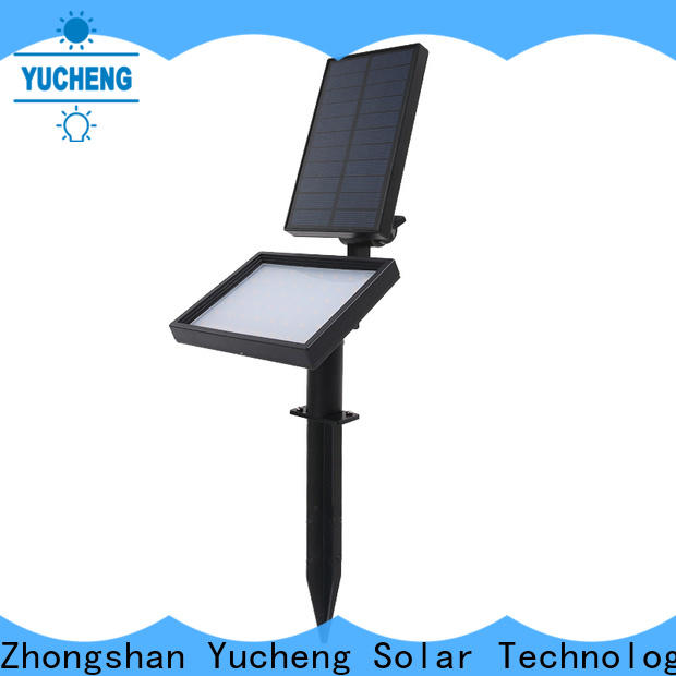 Yucheng led solar spotlights outdoor factory direct supply for home