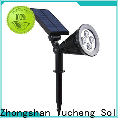 Yucheng custom led solar spotlights outdoor customized for home