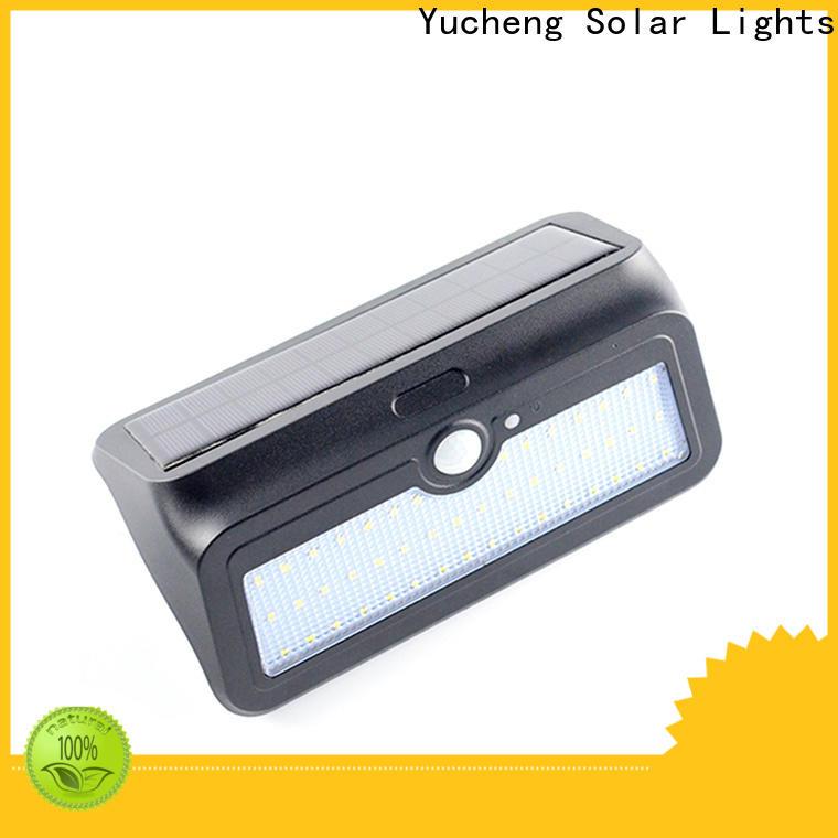 Yucheng solar outdoor wall lights customized for garden
