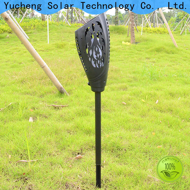 Yucheng new solar powered flame lights with good price for park