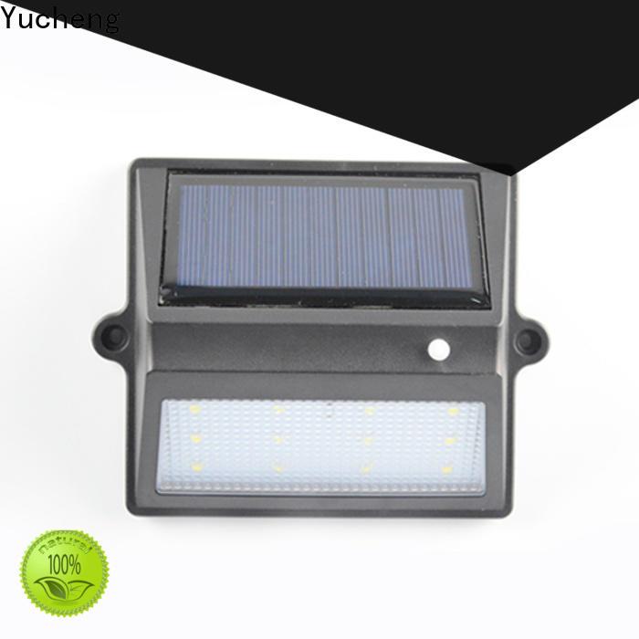 Yucheng solar garden fence lights manufacturer for garden