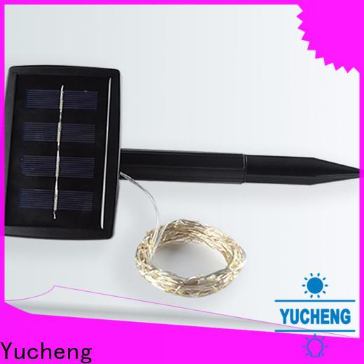 Yucheng solar powered outdoor string lights supplier for shop windows