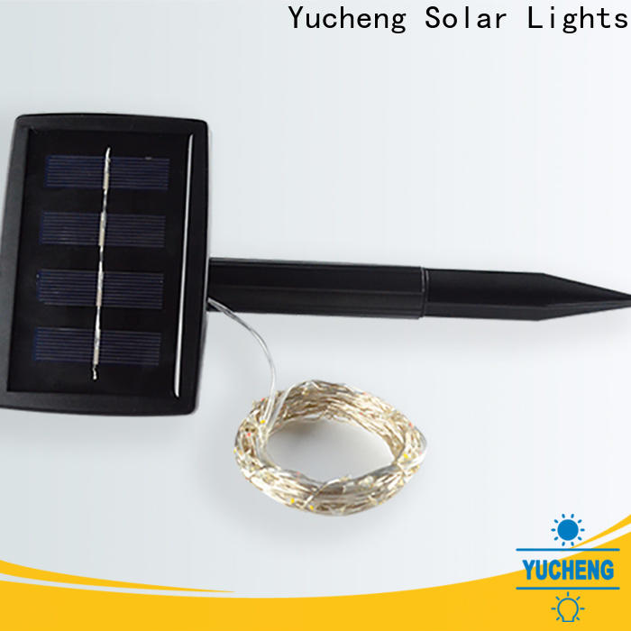 Yucheng latest solar powered christmas lights supplier for courtyards