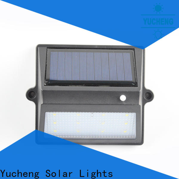 Yucheng solar garden fence lights factory for home