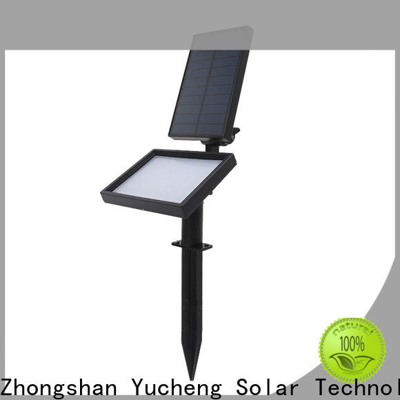 Yucheng led solar spotlights outdoor with good price for garden