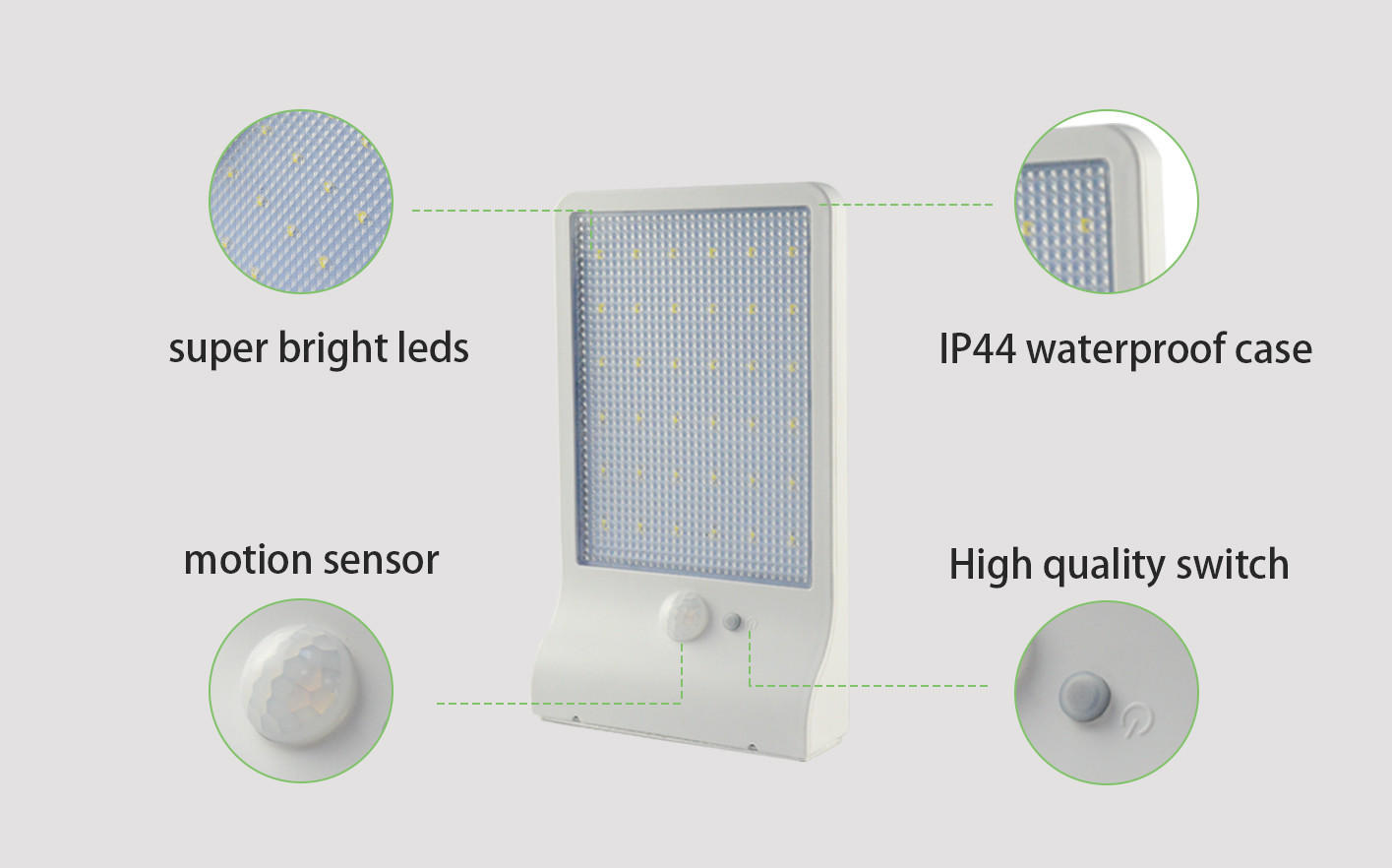 Yucheng ultrathin solar powered security lights supplier for docks-1